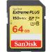 Sandisk Extreme PLUS memoria flash 64 GB SDXC Clase 3 UHS-I