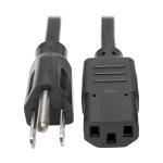 """Tripp Lite P006-001 power cable Black 11.8"""" (0.3 m) NEMA 5-15P C13 coupler"""