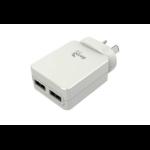 AEROCOOL Premium Smart 5V 2.4A Dual USB Charger - White