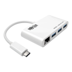 Tripp Lite 3-Port USB 3.1 Gen 1 Portable Hub, USB-C to (x3) USB-A, with Gigabit Ethernet Port