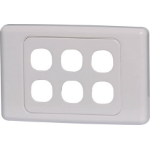 Altronics 6 Way Clipsal Clip-In Wallplate