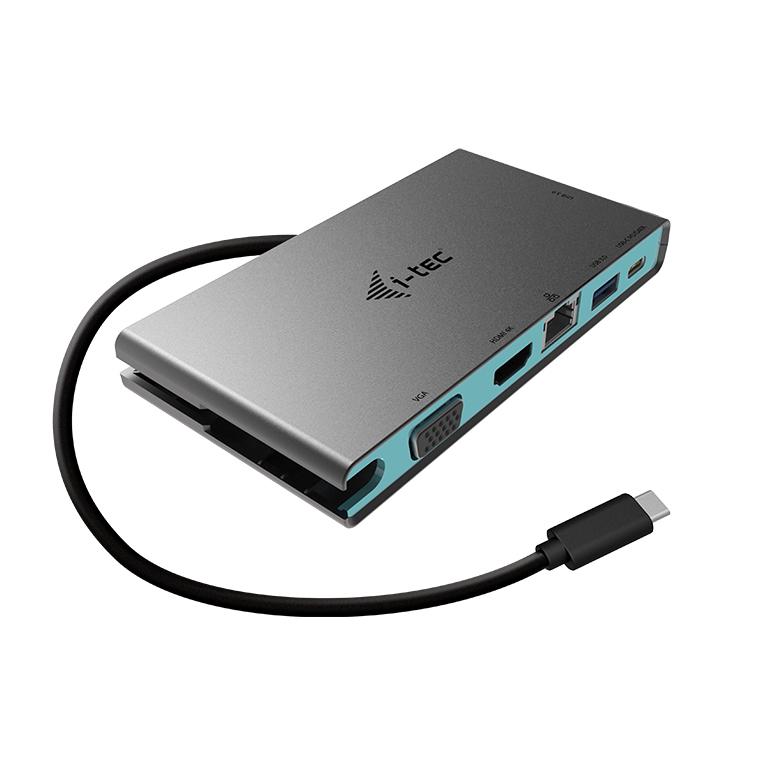 i-tec USB-C Travel Dock 4K HDMI o VGA, Cable USB-C de 20cm