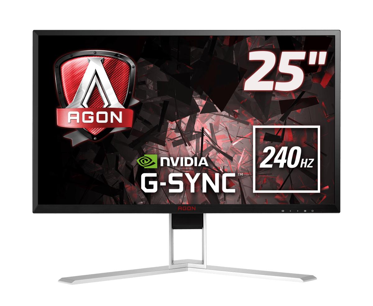 """AOC Gaming AG251FG pantalla para PC 62,2 cm (24.5"""") 1920 x 1080 Pixeles Full HD LED Negro, Rojo"""