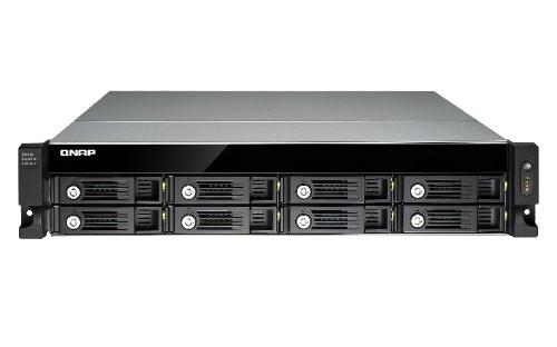 "QNAP UX-800U-RP/16TB-RED 8 Bay NAS HDD enclosure 2.5/3.5"" Black"