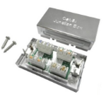 Cablenet 22-2148 network junction box Cat6a Silver