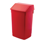 ADDIS 60L FLIP TOP RECYCLE BIN RED