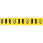 Brady 3430-8 self-adhesive label Rectangle Removable Black, Yellow 10 pc(s)