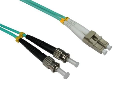 Cables Direct FB3M-LCST-020 fibre optic cable 2 m OM3 LC ST Blue,Aqua colour