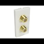 Cables Direct AV-MOD2FCONN socket-outlet White