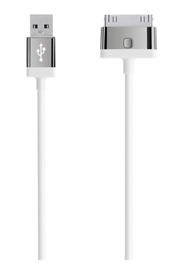 Belkin 4ft. USB - 30-pin m/m mobile phone cable USB A Apple 30-p White 1.21 m