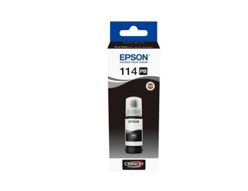Epson C13T07B140 (114) Ink bottle black, 70ml