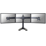 "Newstar Tilt/Turn/Rotate Triple Desk Stand for three 10-27"" Monitor Screens, Height Adjustable - Black"