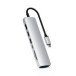 Satechi ST-UCSMA3S interface hub USB 3.2 Gen 1 (3.1 Gen 1) Type-C 5000 Mbit/s Silver