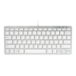 R-Go Tools R-Go Compact Keyboard, QWERTY (US), white, wired