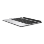 HP 922749-041 mobile device keyboard QWERTZ German Black, Silver
