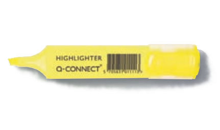 Q-CONNECT KF01111 felt pen Fine/Medium Yellow 10 pc(s)