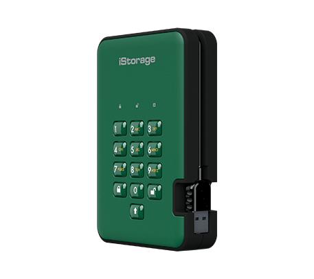 iStorage diskAshur 2 external hard drive 5000 GB Green