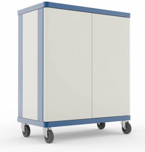 LapSafe ClassBuddy 30 Portable device management cart Blue,White