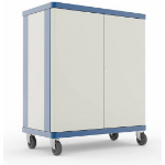 LapSafe ClassBuddy 30 Portable device management cart Blue,White