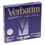 "Verbatim 1.2GB ReWritable MO Disk MAC Format (2x) 1200MB 5.25"" magneto optical disk"