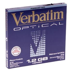 """Verbatim 1.2GB ReWritable MO Disk MAC Format (2x) magneto optical disk 13.3 cm (5.25"""")"""