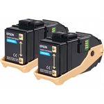 Epson C13S050608 (0604) Toner cyan, 7.5K pages, Pack qty 2