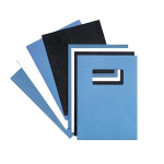 GBC LeatherGrain Binding Covers 250gsm with window A4 Blue (50) binding cover