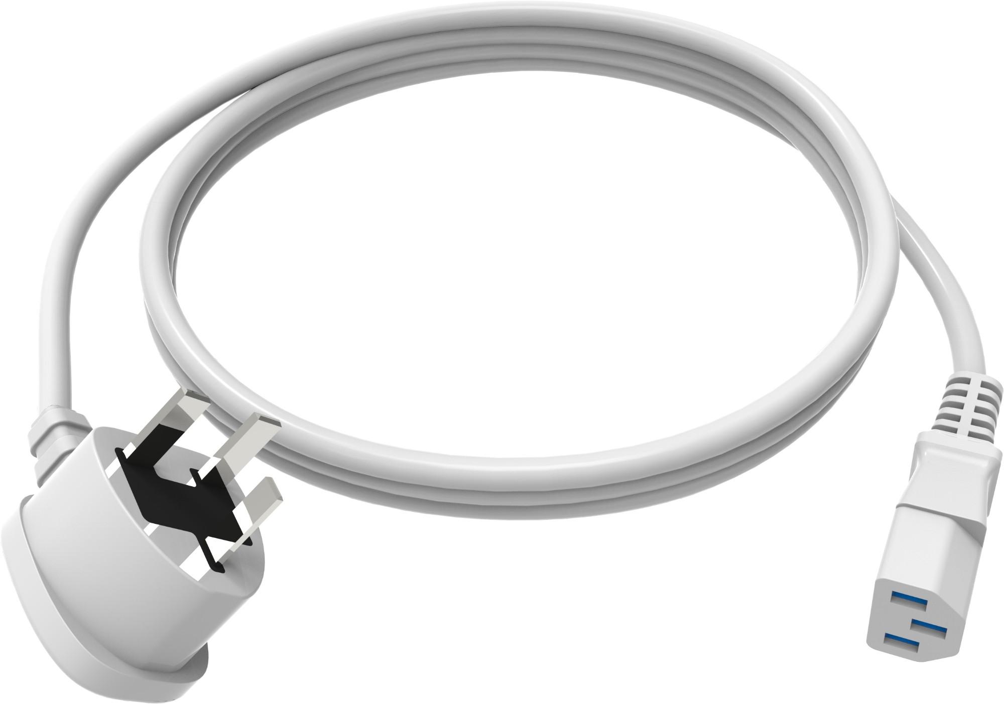 Vision TC 2MUKIEC cable de transmisión Blanco 2 m C13 acoplador BS 1363