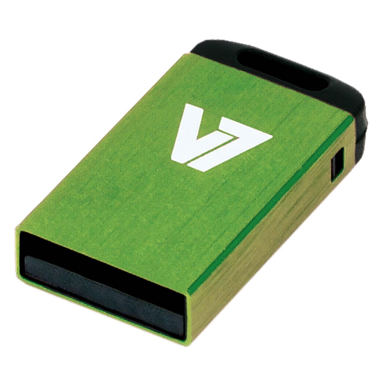 V7 Nano USB 2.0 4GB USB flash drive USB Type-A Groen