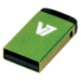 V7 Nano USB 2.0 4GB USB flash drive USB Type-A Groen