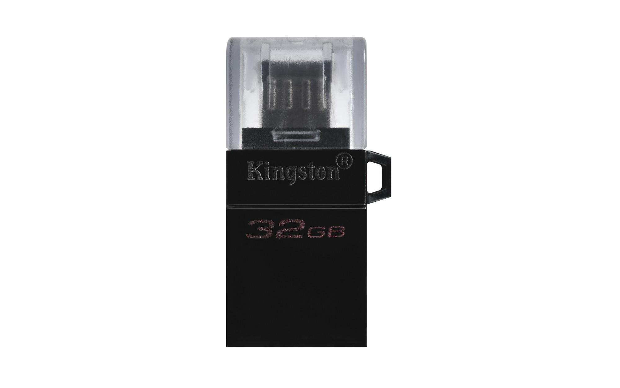 Kingston Technology DataTraveler microDuo3 G2 USB flash drive 32 GB USB Type-A / Micro-USB 3.2 Gen 1 (3.1 Gen 1) Zwart