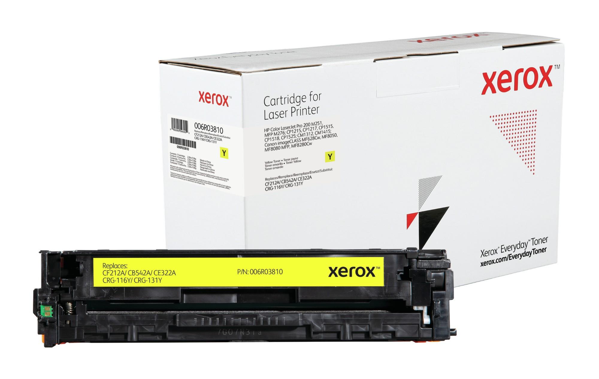 Xerox Tóner de Rendimiento estándar Amarillo Everyday, HP CF212A/ CB542A/ CE322A/ CRG-116Y/ CRG-131Y equivalente de , 1800 páginas