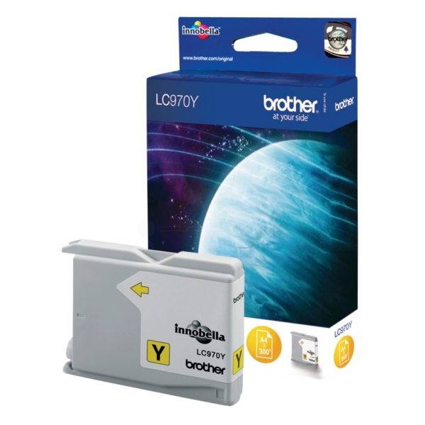 Brother LC-970Y Ink cartridge yellow, 300 pages, 10ml