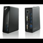 Lenovo ThinkPad USB 3.0 Dock (EU) Wired USB 3.2 Gen 1 (3.1 Gen 1) Type-A Black