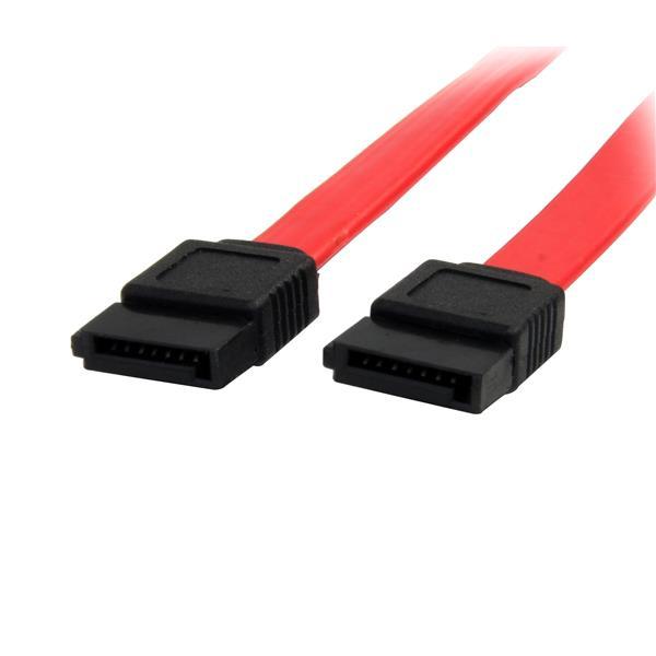 StarTech.com Cable SATA 0,45m - Rojo - 18in Pulgadas Cable Serial ATA