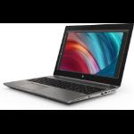 "HP ZBook 15 G6 Mobile workstation Silver 39.6 cm (15.6"") 1920 x 1080 pixels 9th gen Intel® Core™ i7 16 GB DDR4-SDRAM 512 GB SSD NVIDIA Quadro T2000 Wi-Fi 6 (802.11ax) Windows 10 Pro"