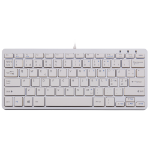 R-Go Tools R-Go Compact Keyboard, QWERTY (NORDIC), white, wired
