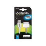 Duracell USB5011W mobile phone cable USB A Apple 30-p White 1 m