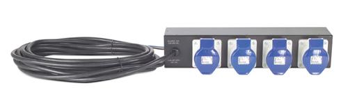 APC Rack PDU Extender, Basic, 2U, 32A, 230V, (4) IEC 309-32 unidad de distribución de energía (PDU) Negro 4 salidas AC