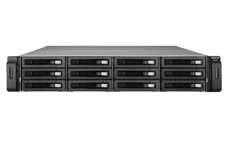 QNAP REXP-1220U-RP 72000GB Rack (2U) Black disk array REXP-1220U-RP/72TB-EXOS