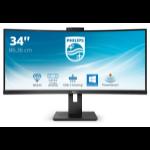 """Philips P Line 346P1CRH/00 LED display 86.4 cm (34"""") 3440 x 1440 pixels UltraWide Quad HD Black"""