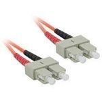 C2G 5m SC/SC LSZH Duplex 62.5/125 Multimode Fibre Patch Cable 5m Orange fiber optic cable