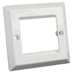 Cablenet Bevelled Faceplate 50mm x 50mm Single Gang