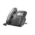 Polycom VVX 310 Wired handset 6lines LCD Black