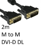 TARGET DVI-D Dual Link (M) to DVI-D Dual Link (M) 2m Black OEM Display Cable