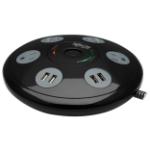 "Tripp Lite TLP406USBUFO surge protector Black, Gray 4 AC outlet(s) 120 V 72"" (1.83 m)"
