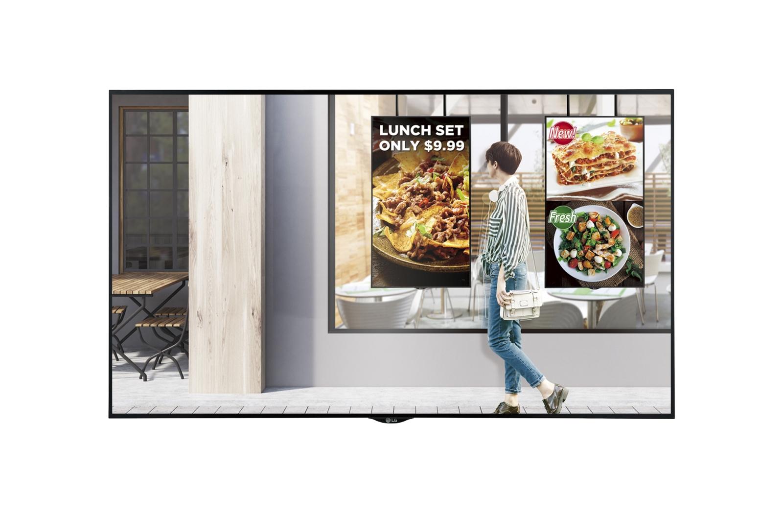 "LG 49XS4F-B pantalla de señalización 124,5 cm (49"") LED Full HD Panel plano interactivo Negro"