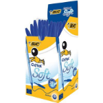 BIC Cristal Soft Blue Stick ballpoint pen Medium 50 pc(s)