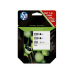 HP 350/350/351 Inkjet Print Cartridges 3-Pack Black,Cyan,Magenta,Yellow ink cartridge