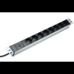 Digitus DN-95410 power extension 2 m 8 AC outlet(s) Black